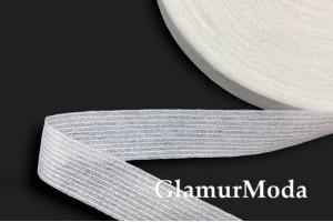 Лента флизелиновая нитепрошивная, белая, 2 см