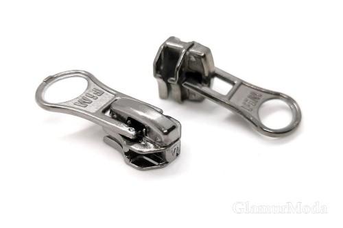 Бегунок с собачкой темный никель, к металлической молнии тип 5, арт. 07, Турция
