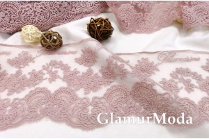 Кружево Blumarine (Блюмарин) пудрового цвета