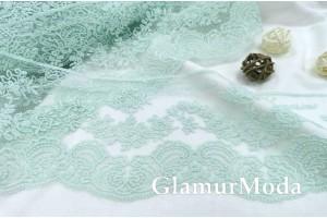 Кружево Blumarine (Блюмарин) мятного цвета