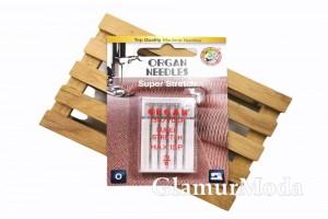 Иглы для швейных машин Organ Super Stretch 5/75