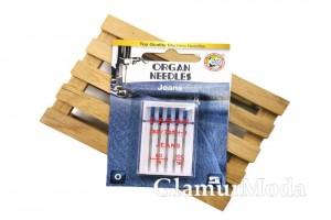 Иглы для швейных машин Organ Jeans 5/90-100