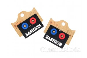 """Нашивка """"FASHION"""" на черном, 3.5х5 см"""