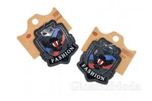 """Нашивка """"FASHION"""" на черном, 6х5 см"""