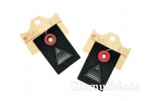 "Нашивка ""Пирамида"" на черном, 6.2х4.2 см"