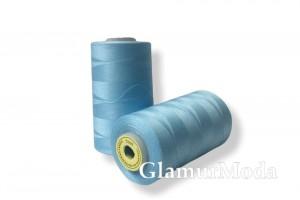 Нить 50/2 5000 ярдов бирюзово-голубой цвет 251