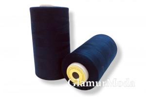 Нить 50/2 5000 ярдов тёмно-синий цвет 320