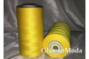 Нить 50/2 5000 ярдов жёлтый цвет 385