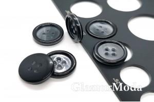 Пуговица пластмассовые на четыре прокола, чёрный цвет, 20 мм, П-53