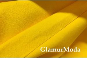Футер 2-х нитка петля жёлтого цвета, Турция