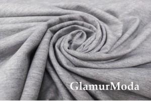 Футер 2-х нитка петля (FULL LYC) цвет серый меланж, светлая изнанка, Турция