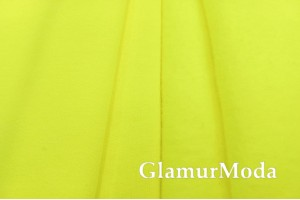 Футер 3-х нитка начес неонового желтого цвета, Турция