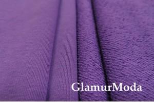 Футер 3-х нитка петля фиолетовый , Турция