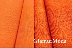 Футер 3-х нитка петля оранжевый , Турция