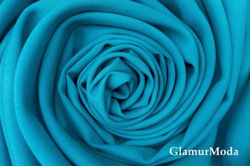 Габардин Фуа [Fuhua] бирюзово-голубого цвета