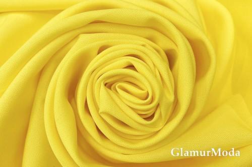 Габардин Фуа [Fuhua] лимонно-желтый