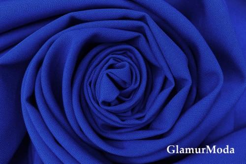 Габардин синего василькового цвета