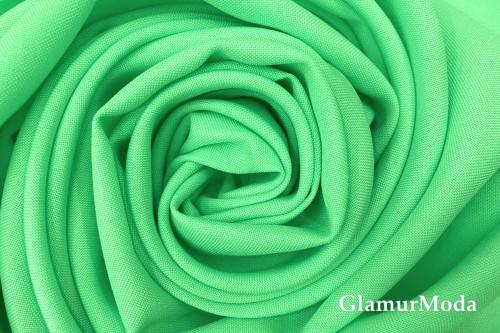 Габардин Фуа [Fuhua] ярко-зеленого цвета