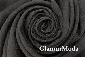 Габардин Фуа [Fuhua], черно-коричневый, арт. 305