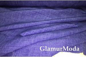 Габардин Меланж фиолетового цвета