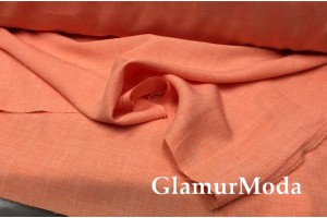 Габардин Меланж персикового цвета