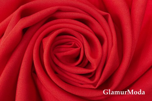 Габардин красного цвета