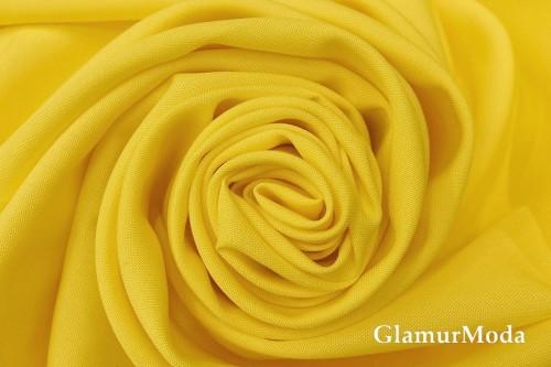 Габардин ярко-желтого цвета