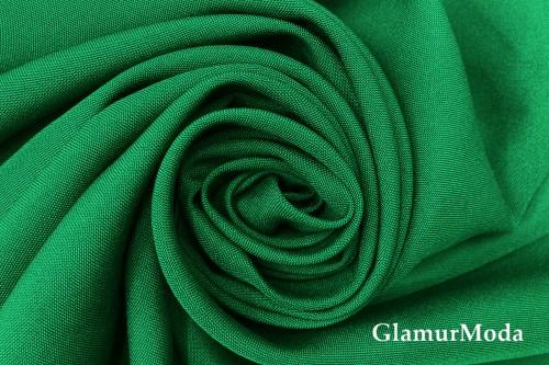 Габардин насыщенного зеленого цвета