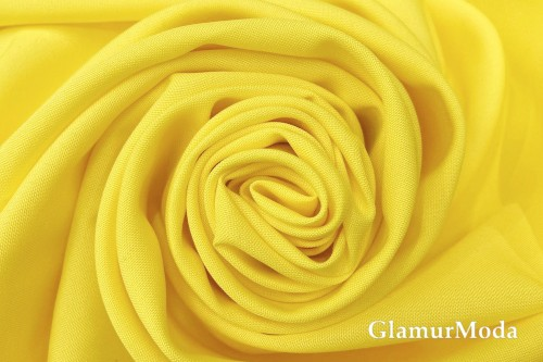 Габардин лимонно-желтого цвета