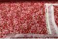 Дак (DUCK) маленькие цветы на красном фоне