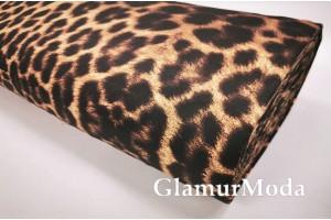 Сатин мерсеризованный 240 см с принтом Леопард