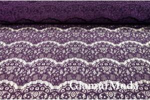 Гипюр Реснички фиолетового цвета