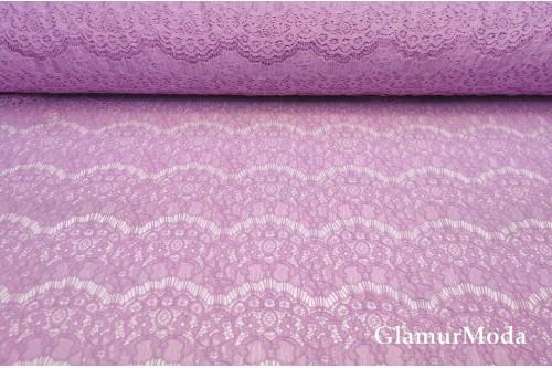 Гипюр Реснички лилового цвета