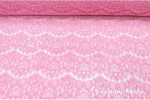 Гипюр Реснички розового цвета