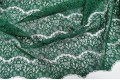 Гипюр Реснички зеленого цвета