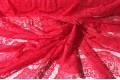 Гипюр Реснички красного цвета