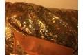 Голограмма диско с крупным рисунком темно-золотого цвета