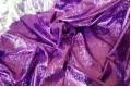 Голограмма диско фиолетового цвета с крупным рисунком
