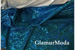 Голограмма диско бирюзовый цвет