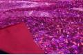 Голограмма диско цвета фуксия с крупным рисунком