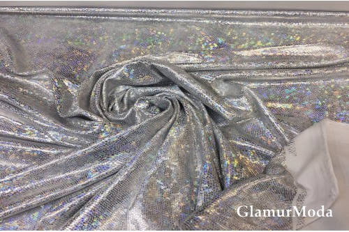 Голограмма диско на масле серебряного цвета