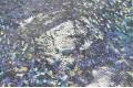 Голограмма диско серебряного цвета с крупным рисунком