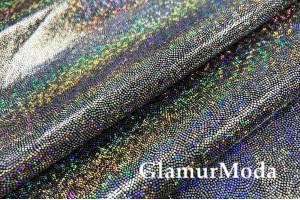 Голограмма диско с мелким рисунком на масле, серебряный цвет