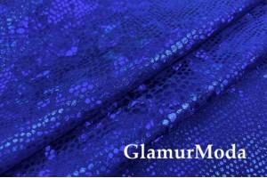 Голограмма диско на масле синего цвета
