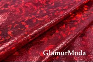 Голограмма диско красного цвета