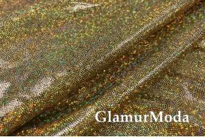 Голограмма диско золотого цвета