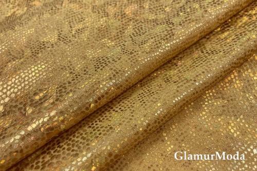 Голограмма диско на масле золотого цвета