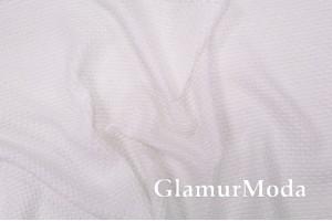 Хлопок Пике соты 235 см, белый цвет