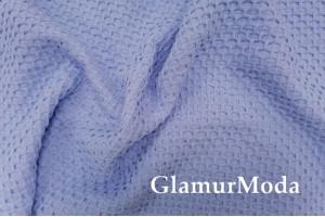 Хлопок Пике соты 235 см, голубой цвет