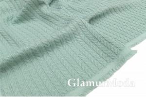 Хлопок Пике косичка 235 см, нежно-зеленый цвет